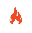 fire flame symbol web icon logo template design vector image