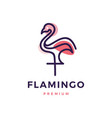 flamingo logo icon vector image