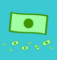 flat money with blue backgroundmoney icon on sky vector image vector image