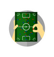 football tactical briefing strategy vector image vector image