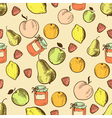 fruits in retro style seamless pattern vector image vector image
