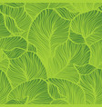green leaves pattern seamless nature vector image