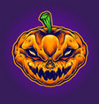halloween skull monster mascot vector image