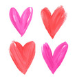 happy valentines day beautiful bright watercolor vector image vector image