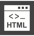 HTML vector image vector image