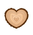 i love wood cutting tree as symbol of heart timber vector image vector image