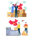 international business delivery from china vector image vector image