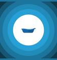 isolated children bathing flat icon bathtub vector image vector image