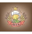 Logo beer vector image vector image