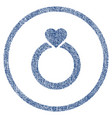 love ring rounded fabric textured icon vector image vector image