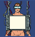 medical research cyberpunk naked man virtual vector image vector image