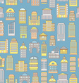 Megapolis seamless pattern Background of buildings vector image