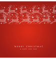merry christmas reindeer decorations elements vector image vector image