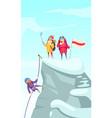 mountaineering peak cartoon vector image