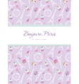Notebook cover design on the theme of Paris vector image vector image