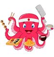 Octopus chef vector image vector image
