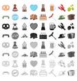 oktoberfest set icons in cartoon style big vector image vector image