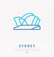 opera house thin line icon vector image vector image