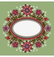 Oval frame with flowers vector image vector image