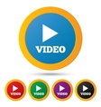 Play video buttons Player navigation vector image