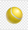 realistic yellow tennis ball object vector image vector image