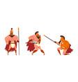 roman legionary ancient warrior character in vector image