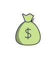 sack of money icon vector image vector image