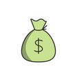 sack of money icon vector image
