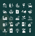 set eco icons in flat style isolated on vector image