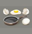 set for healthy breakfast pan vector image vector image