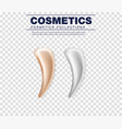 set of cosmetic white cream texture vector image