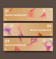 set of soft horizontal banners vector image vector image