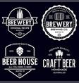 set vintage monochrome badge logo templates vector image