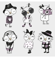 Six cute Owls vector image
