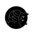 sleeping black cat isolated home pet sleeps on vector image vector image