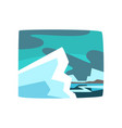 snowy mountains beautiful arctic winter landscape vector image