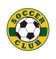 Soccer club sign vector image vector image
