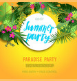 summer vibes party vector image vector image