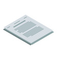 tax paper icon isometric style vector image vector image