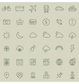 Travel tourism and weather icons set 1 vector image vector image
