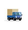 truck delivery trucking transport moving vector image vector image