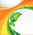 two green leaves conceptual image vector image vector image