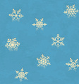Vintage seamless pattern with snowflakes vector image vector image