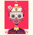 virtual gaming experience retro poster template vector image vector image