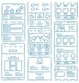 Website Layout Doodles vector image vector image