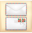 White envelop with rose stamp vector | Price: 1 Credit (USD $1)