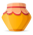 winter honey jar icon cartoon style vector image