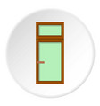 wooden window icon circle vector image vector image