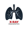 x-ray diagnostics concept vector image vector image
