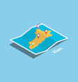 xian shaanxi province explore maps with isometric vector image vector image